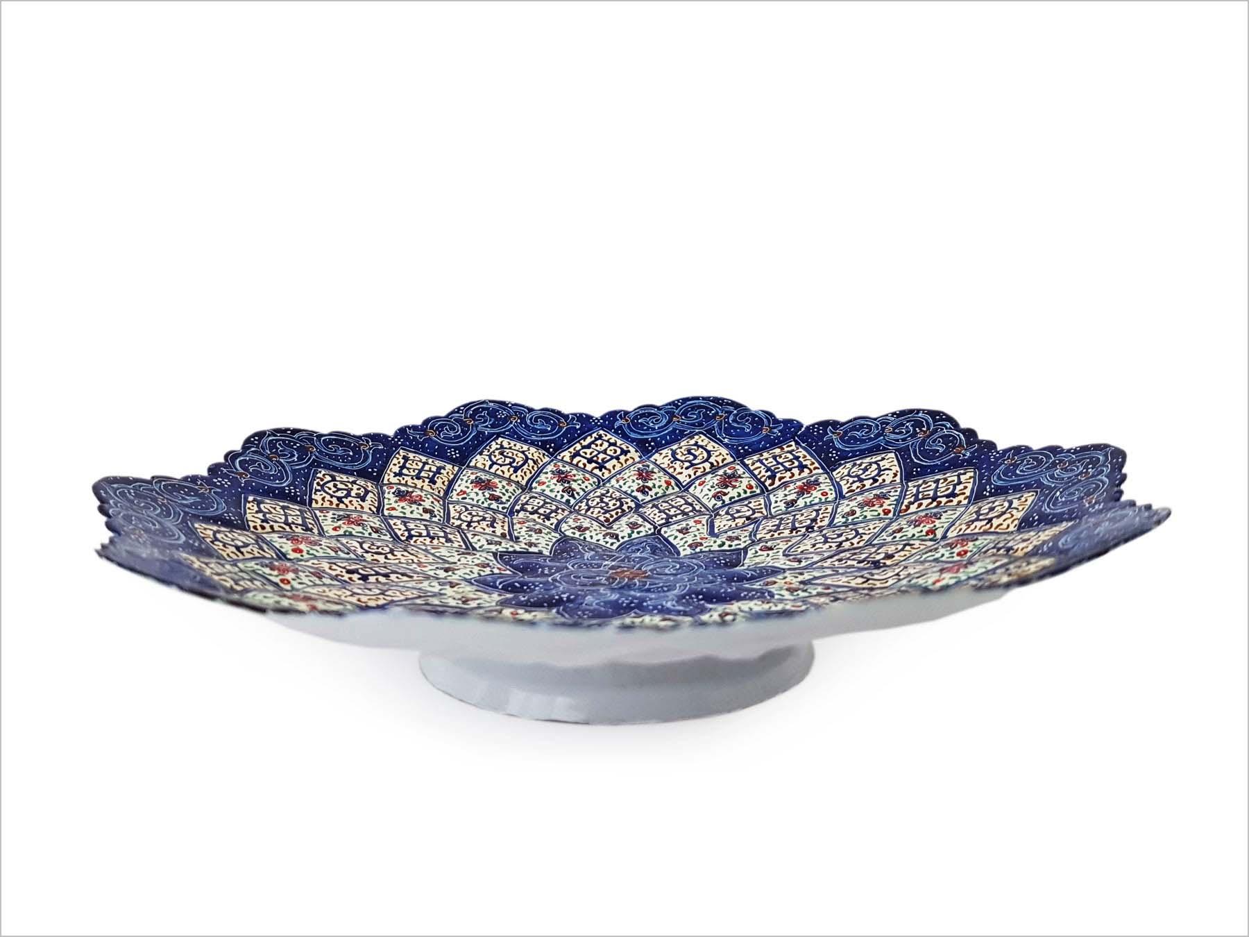 Persian Enamel (Minakari) Decorative Plate Copper