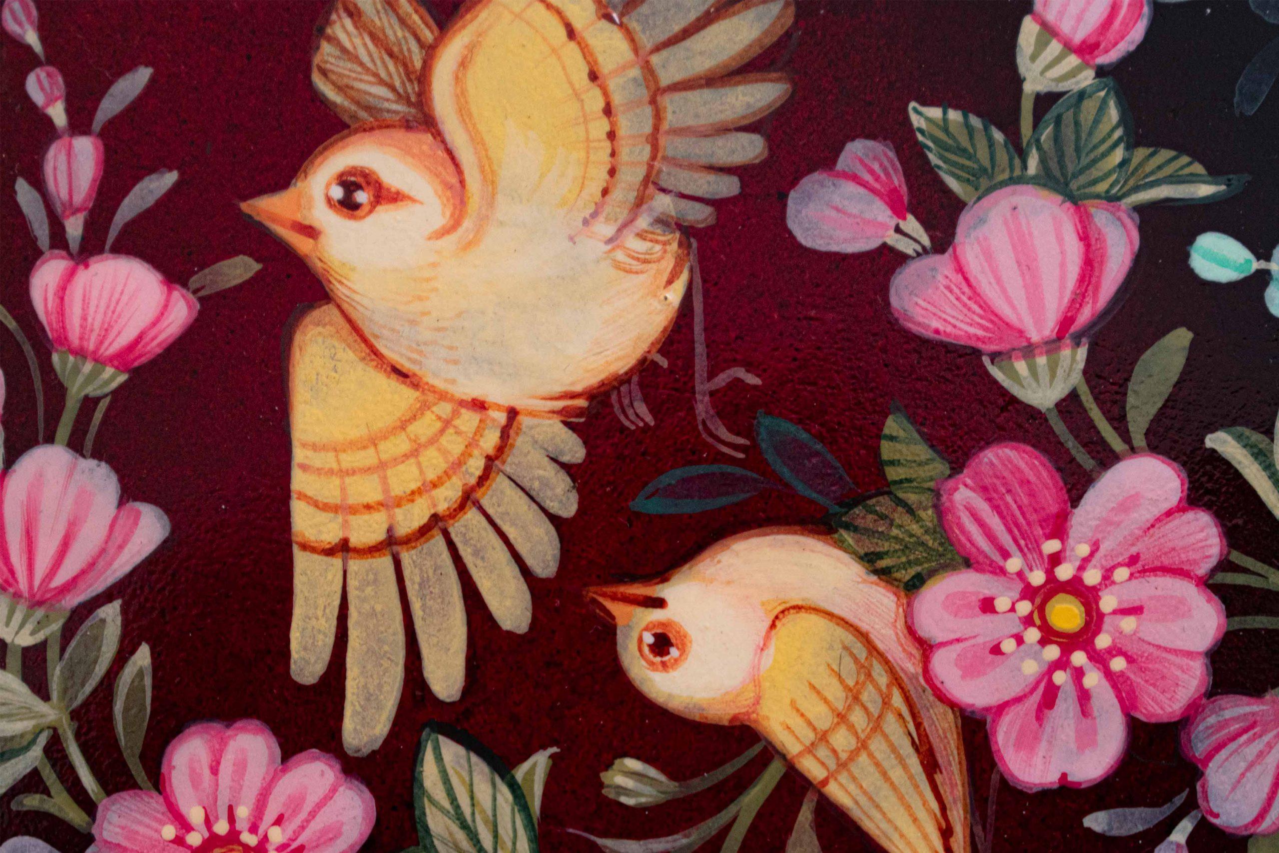 Persian Miniature Painting - Nightingales