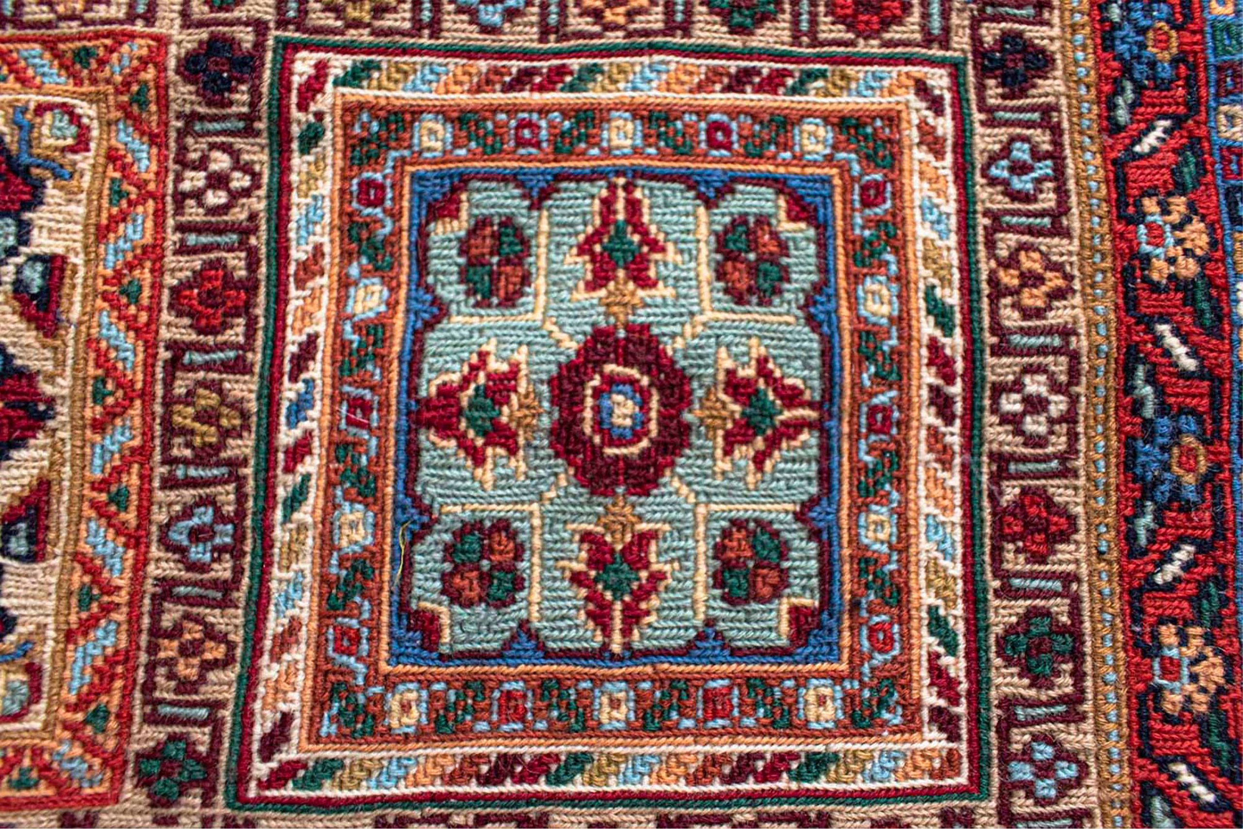 Persian Rug Geometric Pattern