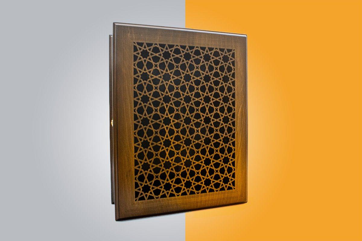 Craftestan Wooden Chest. It Is Craved The Arabesque Reticular Windows.