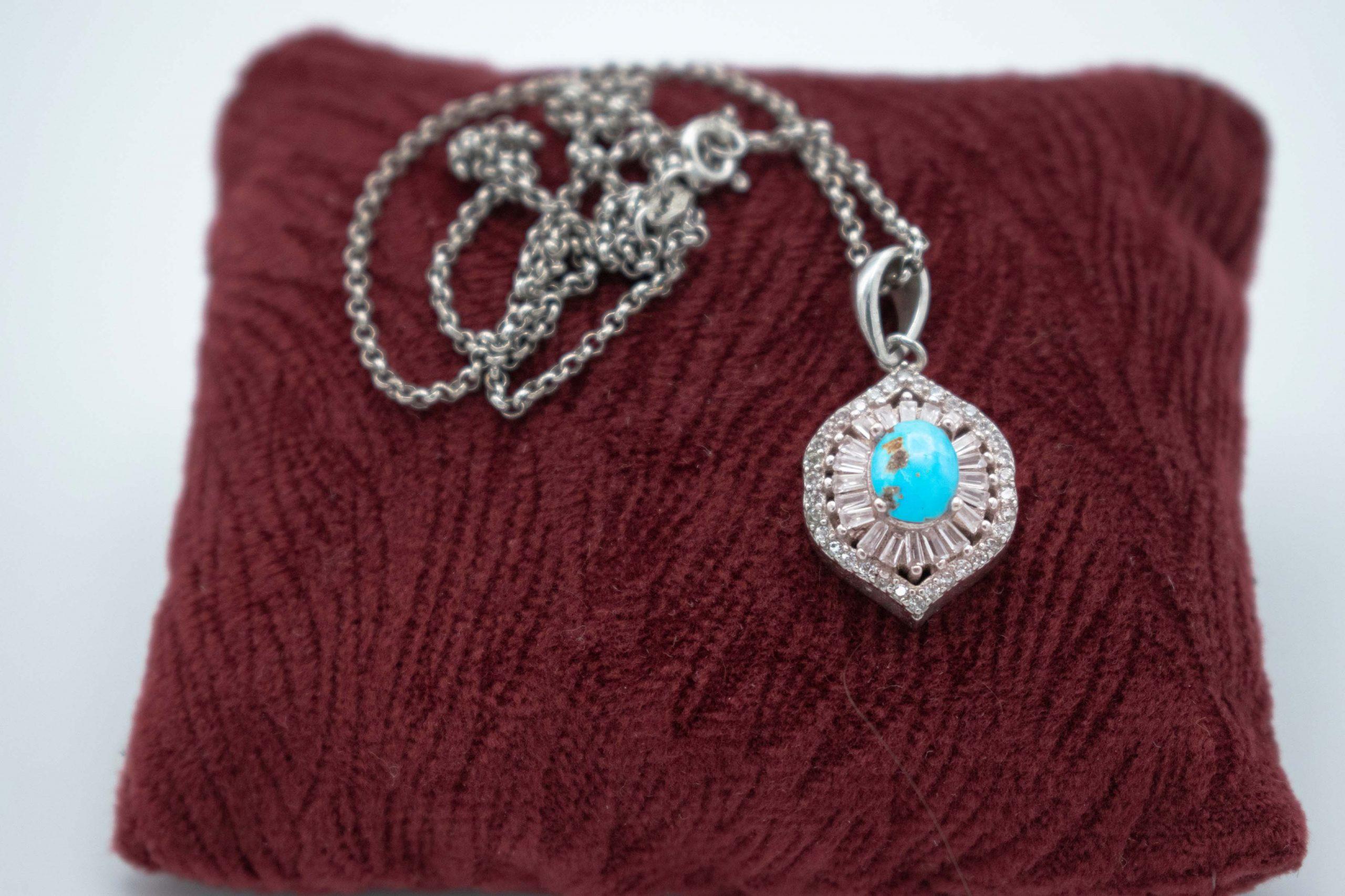 Persian Turquoise / Silver Jewellery Set - Eye