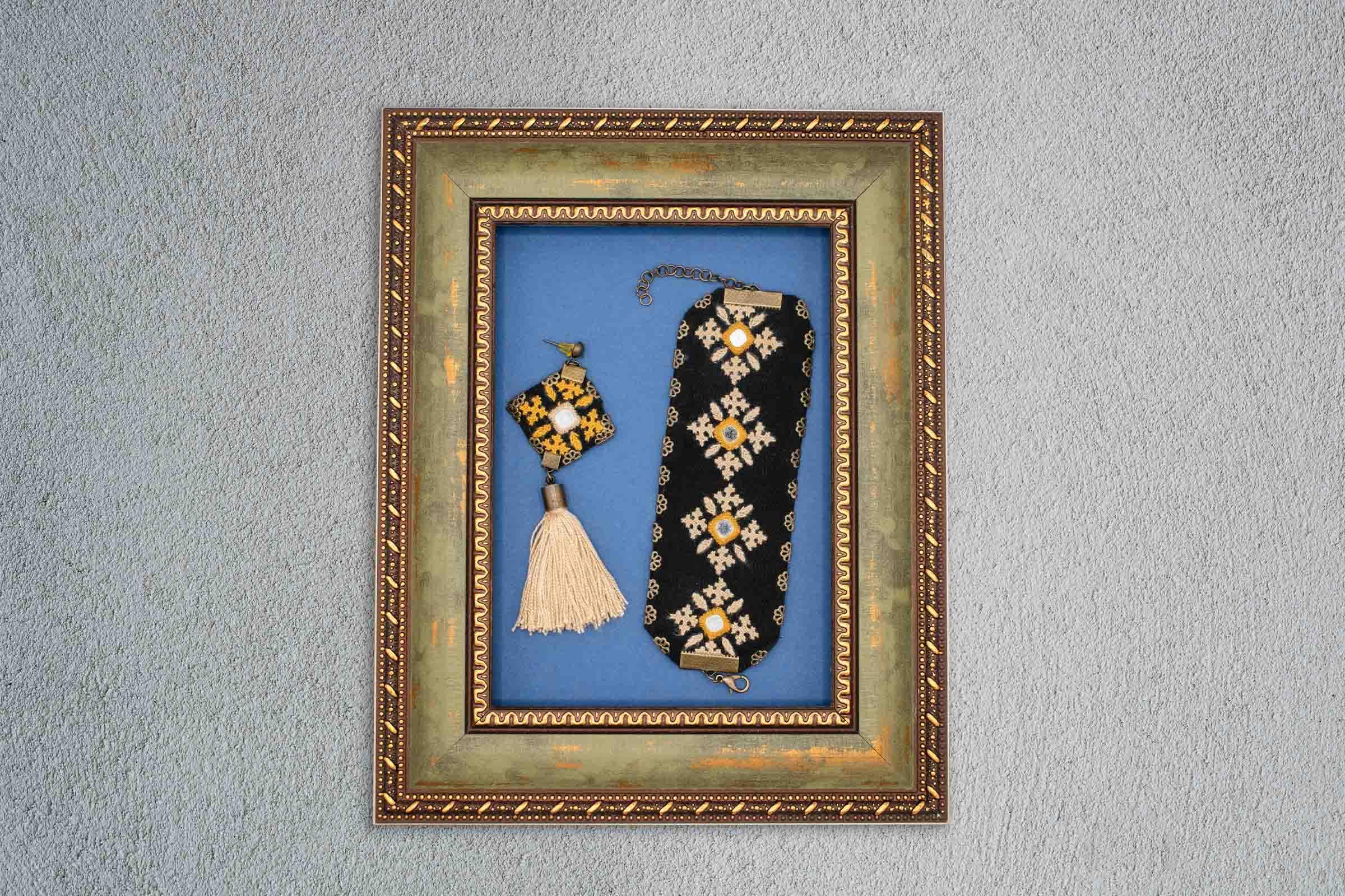 Ethnic Balochi Embroidery Accessory Yellow Tassel