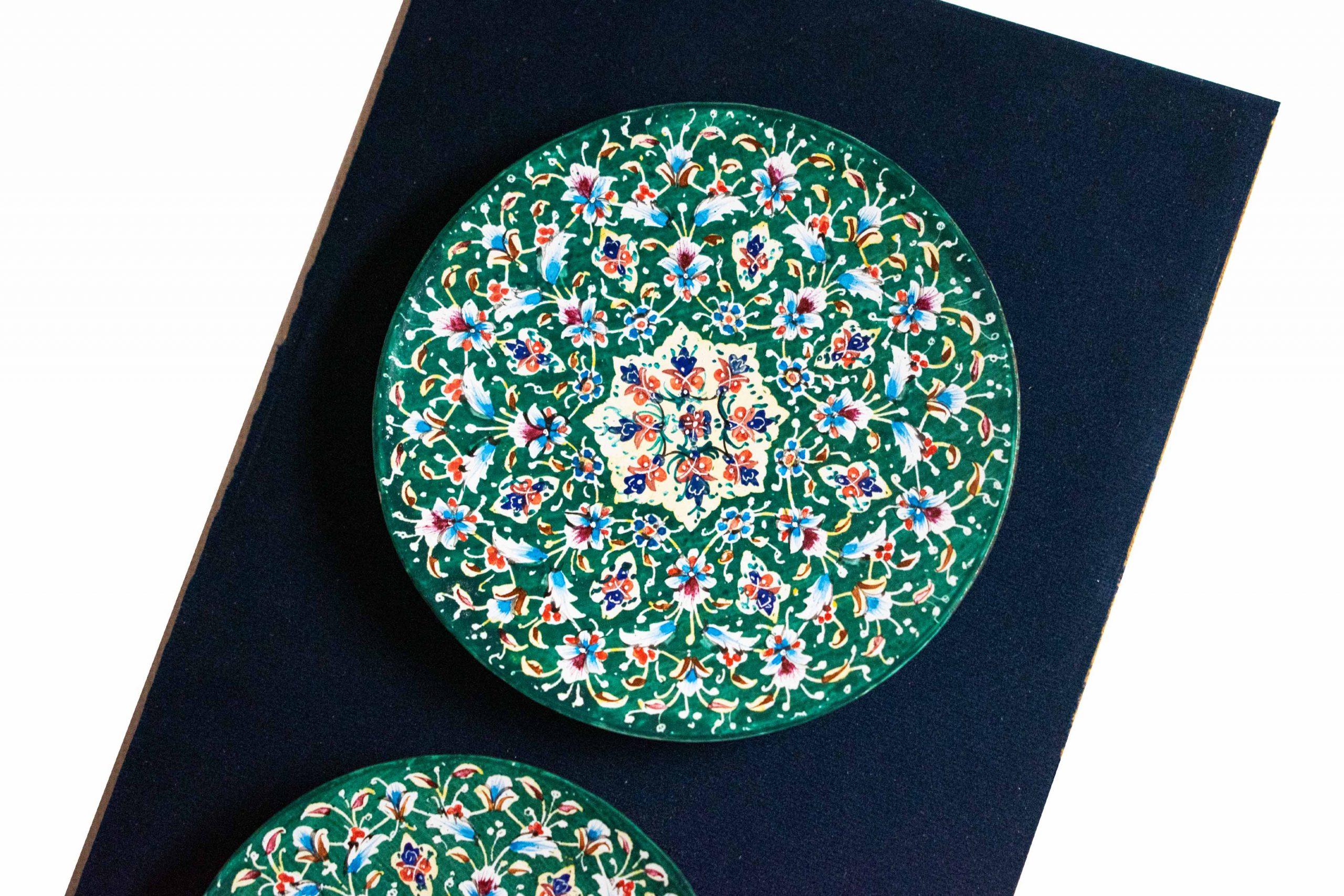 Persian Enamel Decorative Plate