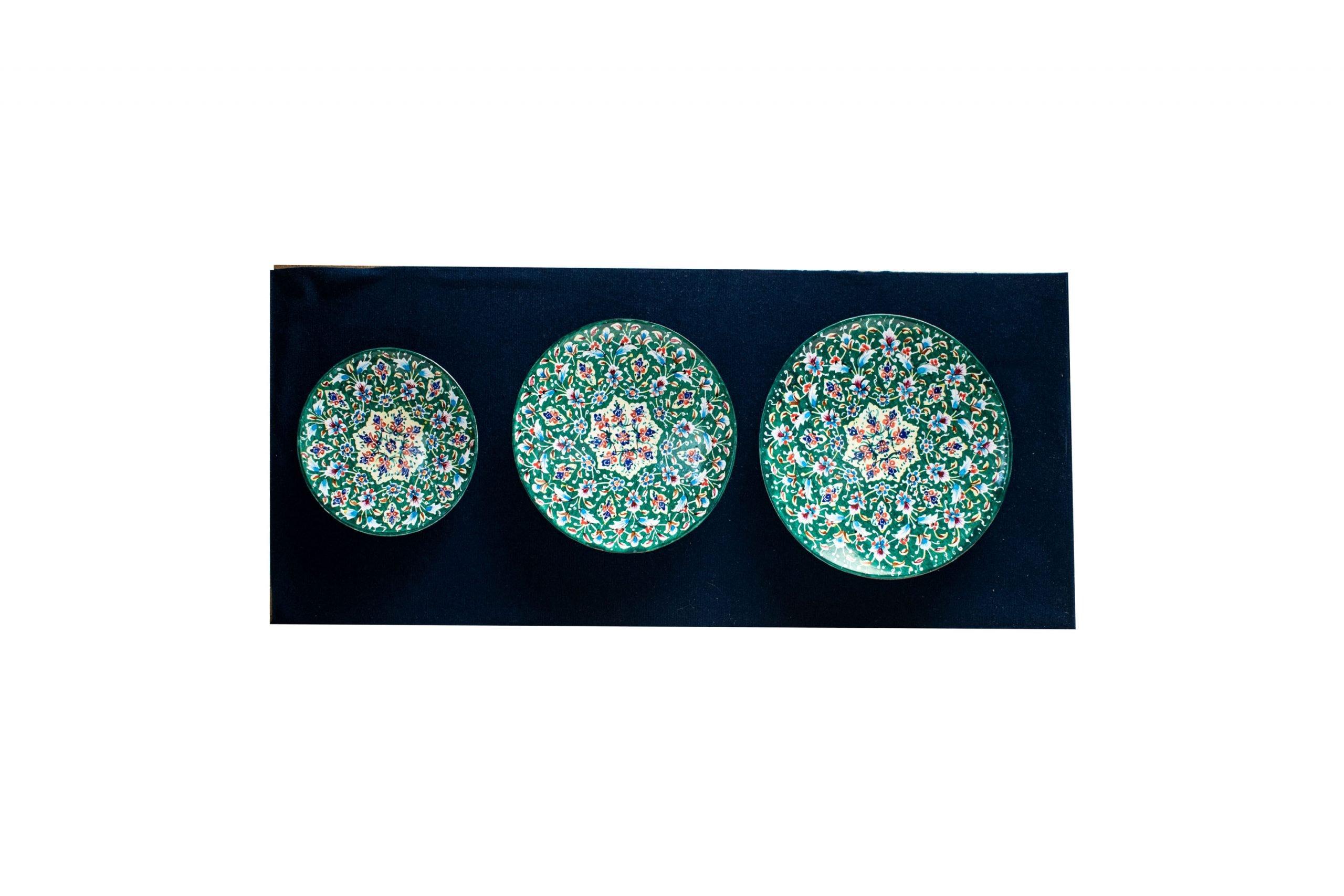 Persian Enamel Watercolour Painting Wall Art